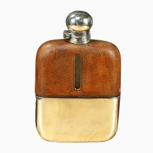 Metal and Leather Flask, 1920s