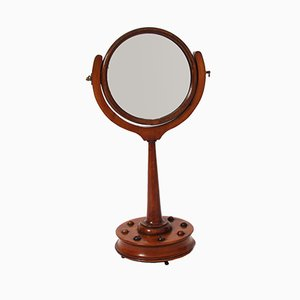 19th-Century English Walnut Vanity Mirror