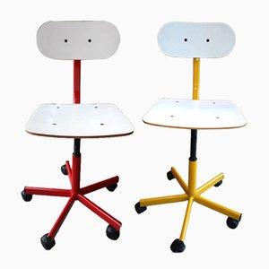 Adjustable Swivel Chairs, 1970s, Set of 2
