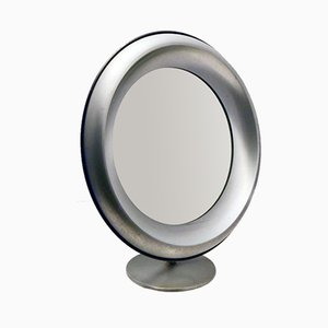 Brushed Steel Vanity Mirror from Missaglia, 1970s