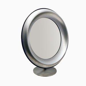 Brushed Steel Vanity Mirror from Missaglia, 1970s