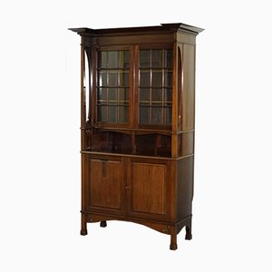 Antique Arts & Crafts Carved Bookcase from Liberty's of London