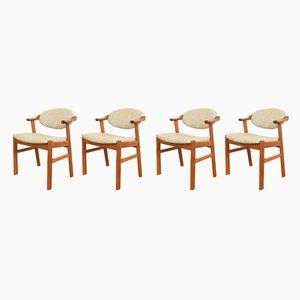 Dänische Mid-Century Esszimmerstühle von Kai Kristiansen für Schou Andersen, 1960er, 4er Set