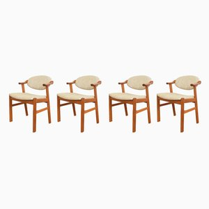 Mid-Century Danish Dining Chairs by Kai Kristiansen for Schou Andersen, 1960s, Set of 4