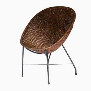 Mid-Century Brazilian Concha Reed Armchair by Martin Eisler & Carlo Hauner, 1960s