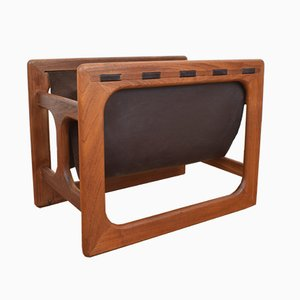 Danish Teak Magazine Rack from Salin Møbler, 1960s