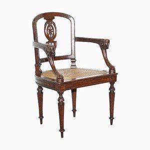 Französischer Napoleon Armlehnstuhl aus Obstholz, 1810er