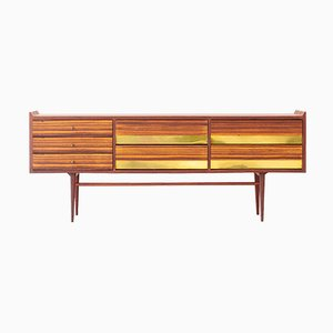 Italian Rosewood and Brass Sideboard, 1950s