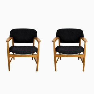Mid-Century Armchairs by A. B. Madsen & E. Larsen, Set of 2