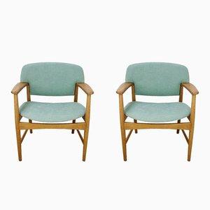 Mid-Century Armlehnstühle von A. B. Madsen & E. Larsen, 2er Set