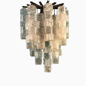 Große Wandlampe mit Anhängern in Eiswürfel-Optik von Mazzega, 1960er