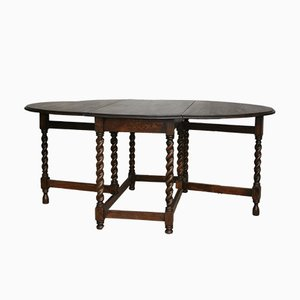 Oval Antique English Gateleg Table