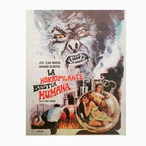 La Horripilante Bestia Humana Filmplakat, 1972