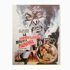 La Horripilante Bestia Humana Movie Poster, 1972
