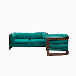 Schwedisches Palisanderset aus 2-Sitzer Sofa & Sessel von Lennart Bender für Stjernmöbler, 1960er