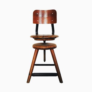 Industrial Swivel Stool, 1930s