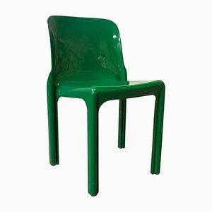 Sedia Selene verde di Vico Magistretti per Artemide, 1969