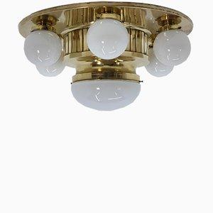 Lámpara de techo Art Déco grande, años 30