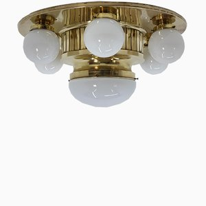 Large Art Deco Ceiling Lamp, 1930s