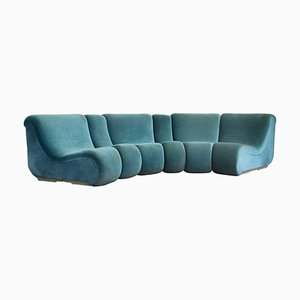 Modular Turquoise Vario Pillo Sofa Set by Burkhardt Vogtherr for Rosenthal, 1970s