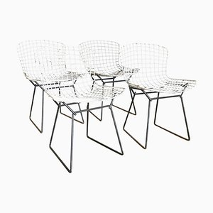 Wire Dining Chairs by Harrie Bertoia for Knoll International, 1952, Set of 4