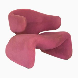 Pink Djinn Lounge Chair by Olivier Morgue for Airborne, 1960s