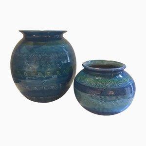 Italienische Vasen von Aldo Londi für Bitossi, 1970er, 2er Set