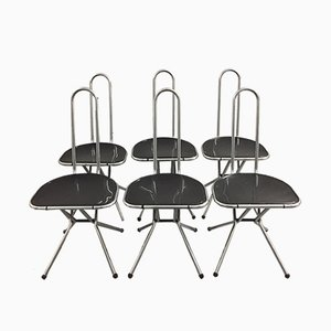 Folding Chairs by Niels Gammelgaard for Ikea, 1980s, Set of 6