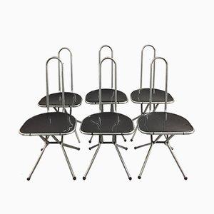Sedie pieghevoli di Niels Gammelgaard per Ikea, anni '80, set di 6
