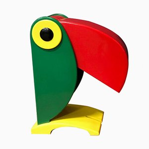 Green Toucan Table Lamp for OTF, 1968