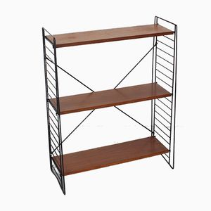 Mid-Century Metal & Teak Shelving Unit by A. D. Dekker for Tomado