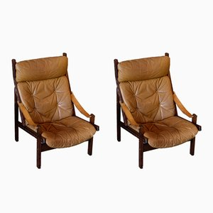 Hunter Easy Chairs by Torbjørn Afdal for Bruksbo, 1960s, Set of 2