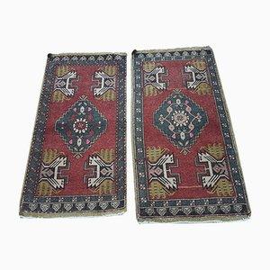 Handgeknüpfte türkische Vintage Oushak Teppiche, 2er Set