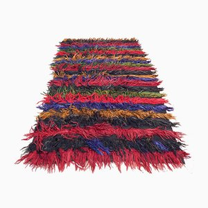 Vintage Angora Wool Shaggy Rug