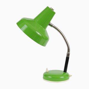 Lámpara de escritorio vintage verde, años 70