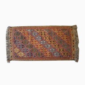 Kleiner türkischer Teppich mit geometrischem Muster, 1970er