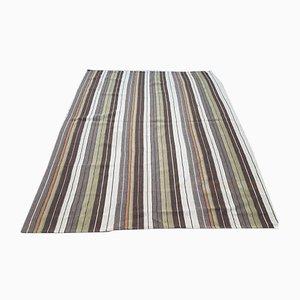 Gestreifter Vintage Teppich