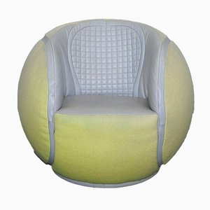 DS-9100/01 Tennis Ball Swivel Armchair from de Sede, 1985