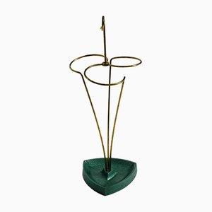 Mid-Century Modern Brass Umbrella Stand