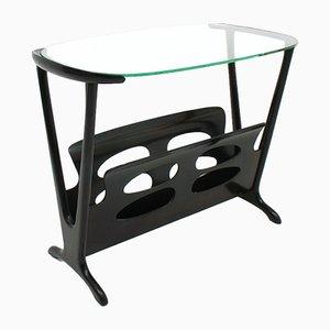 Italienischer Tisch mit Zeitungsablage, 1960er