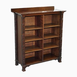 Antique Chinese Style Fretwork Carved Mahogany Bookcase by Thomas Chippendale