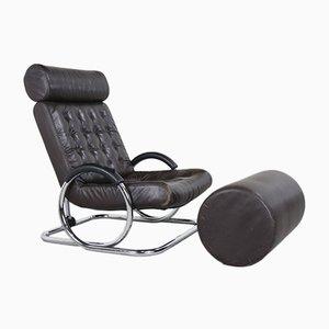 Juego de sillón y otomana Synchro reclinable de Prototeam Design Team para Herman Miller, años 70