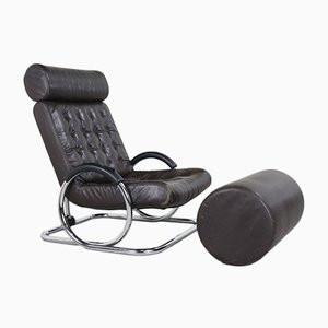 Reclining Synchro Lounge Chair & Ottoman Set by Prototeam Design Team for Herman Miller, 1970s