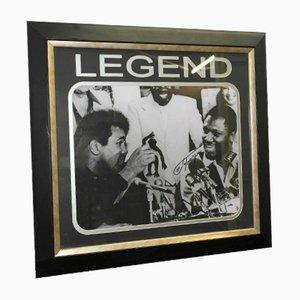 Von Joe Frazier signiertes Thrilla in Manilla & Muhammad Ali Foto, 1975