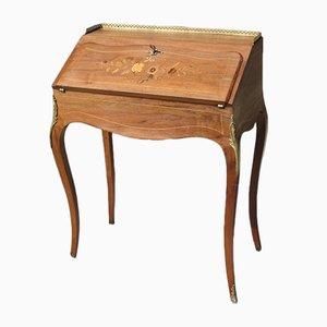 Schreibtisch aus Nussholz im Louis XV-Stil, 1960er