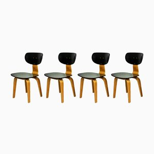 SB02 Stühle von Cees Braakman für Pastoe, 1952, 4er Set