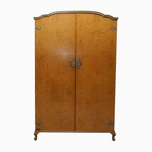 High Mid-Century Burr Walnut Wardrobe from Heirloom Furniture