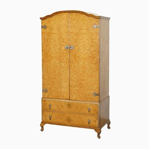 Mid-Century Burr Walnut Wardrobe from Heirloom Furniture