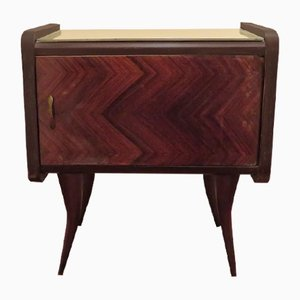 Italian Rosewood Bedside Table, 1950s