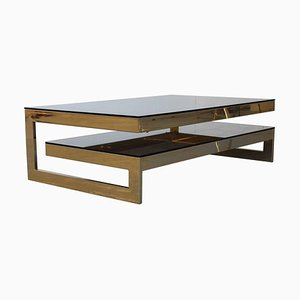 Mid-Century 23-Carat Gold Plated G-Table from Belgo-Chrom, 1970s